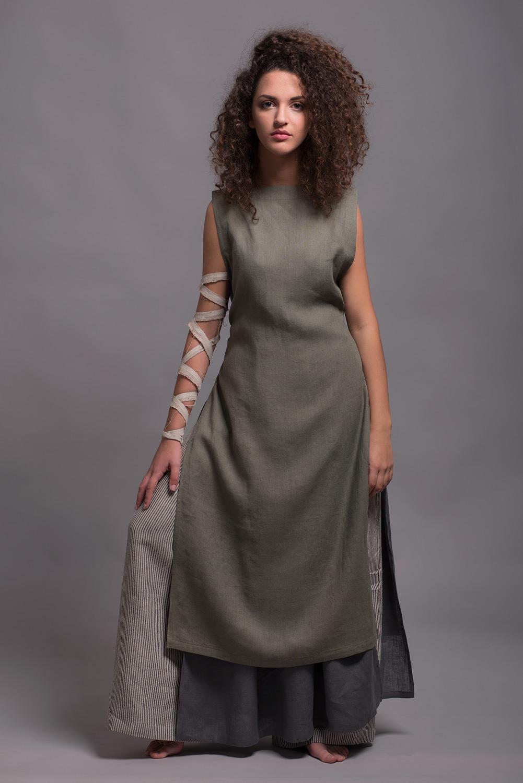 льняное платье-фартук LINAS