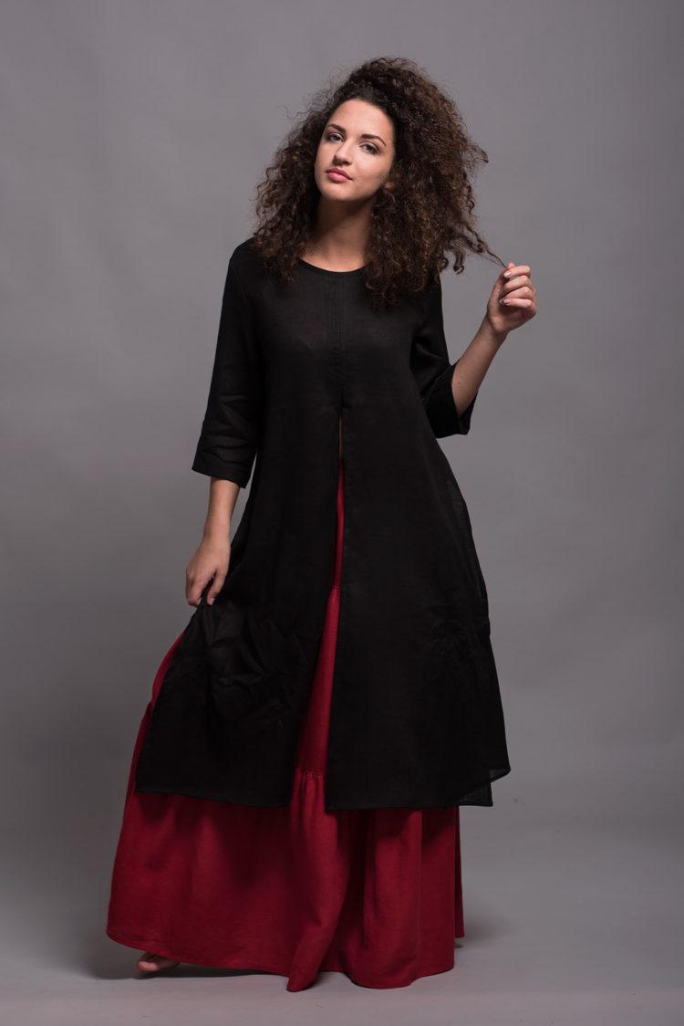 Lightweight Linen Tunic Dress AYA