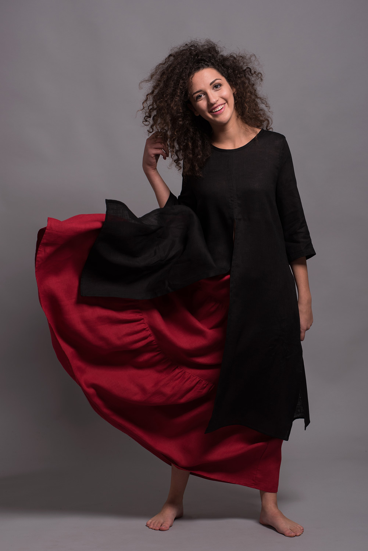 длинная трех-ярусная юбка GYPSY