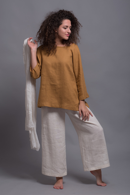 loose linen top SOVA