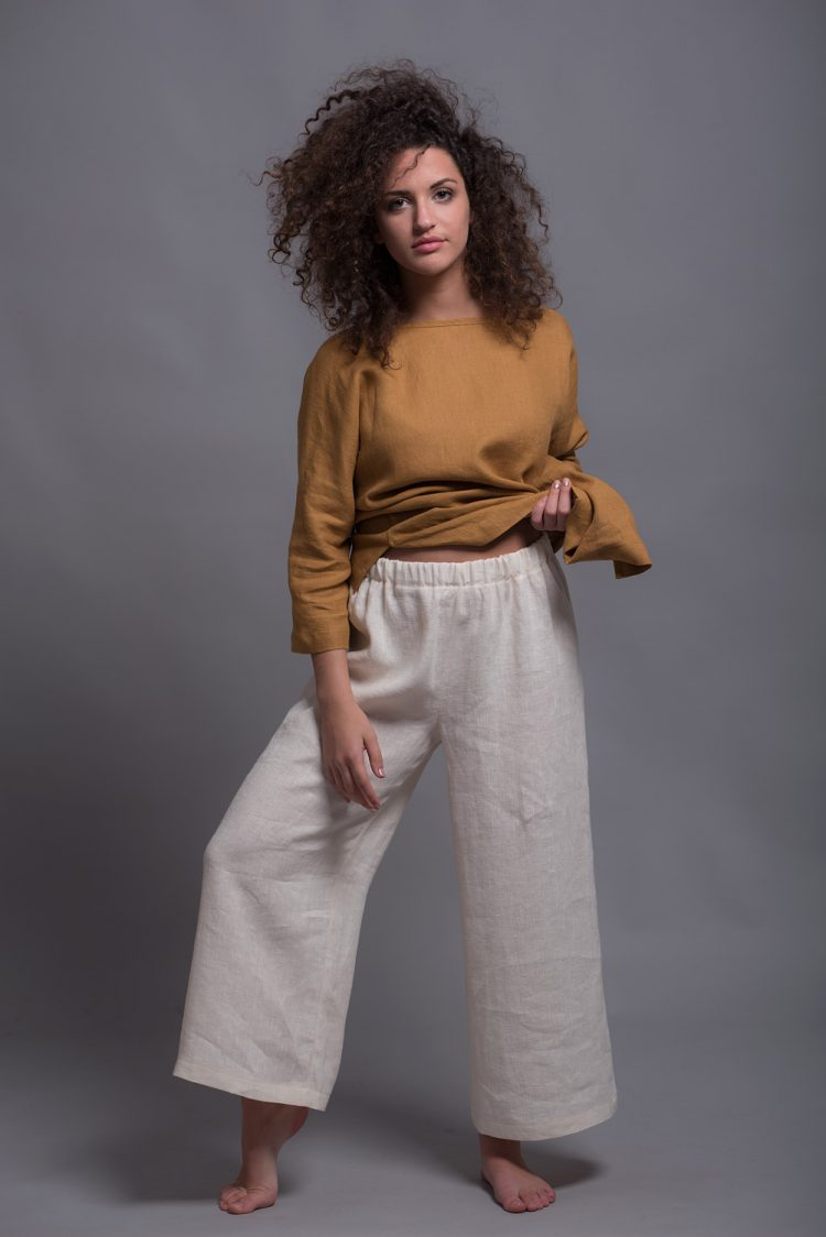 Wide-leg linen pants YANK