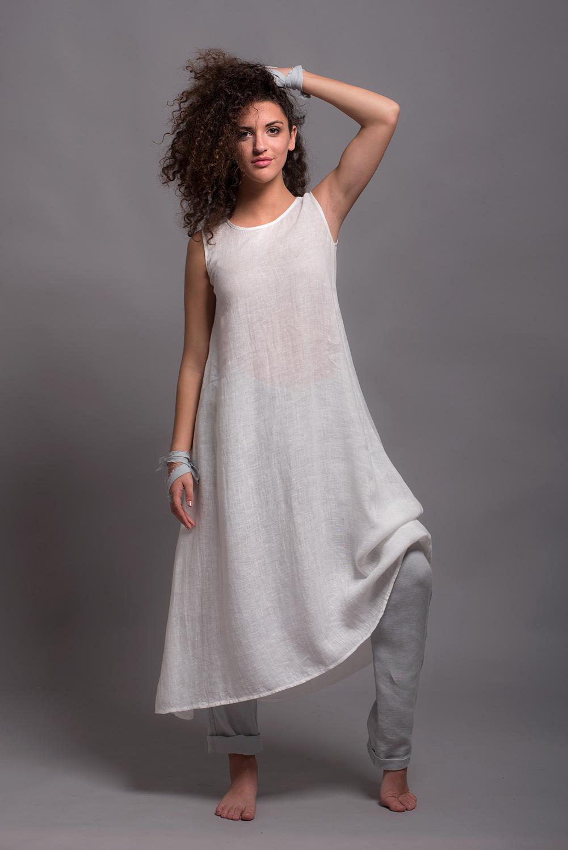 Льняное нижнее платье UNA