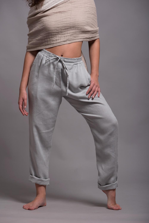 женские льняные брюки ALTO