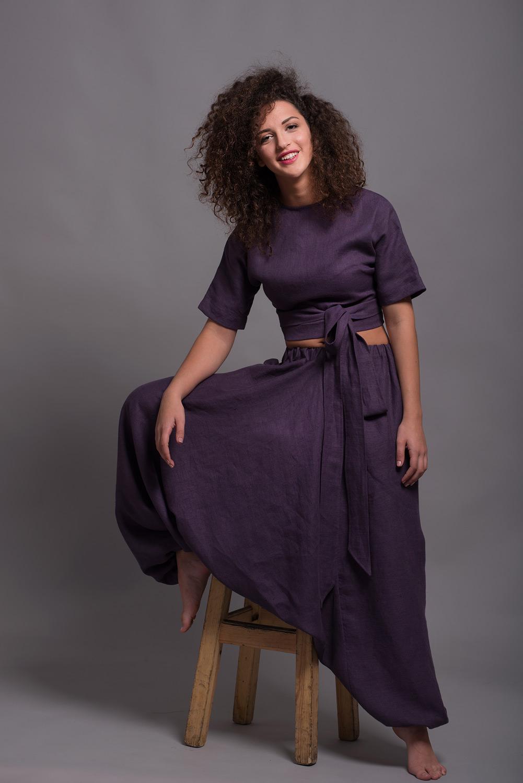 Фиолетовые штаны афгани NOAH