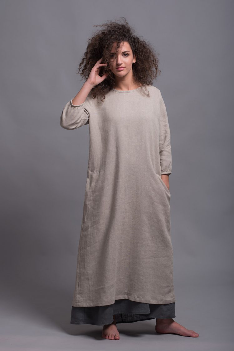 linen shift dress NIKA