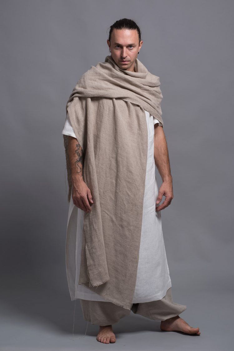 linen shawl wrap for men