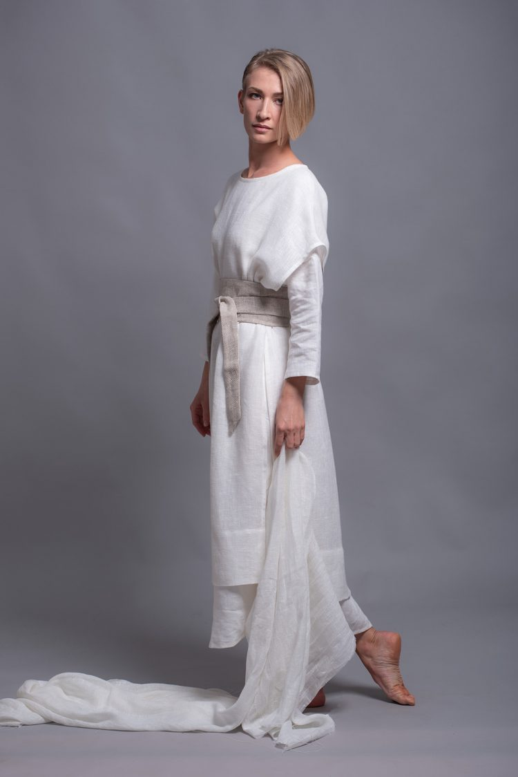 White linen tunic SANGA