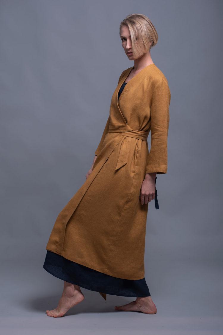 Длинное платье с запахом ADAME