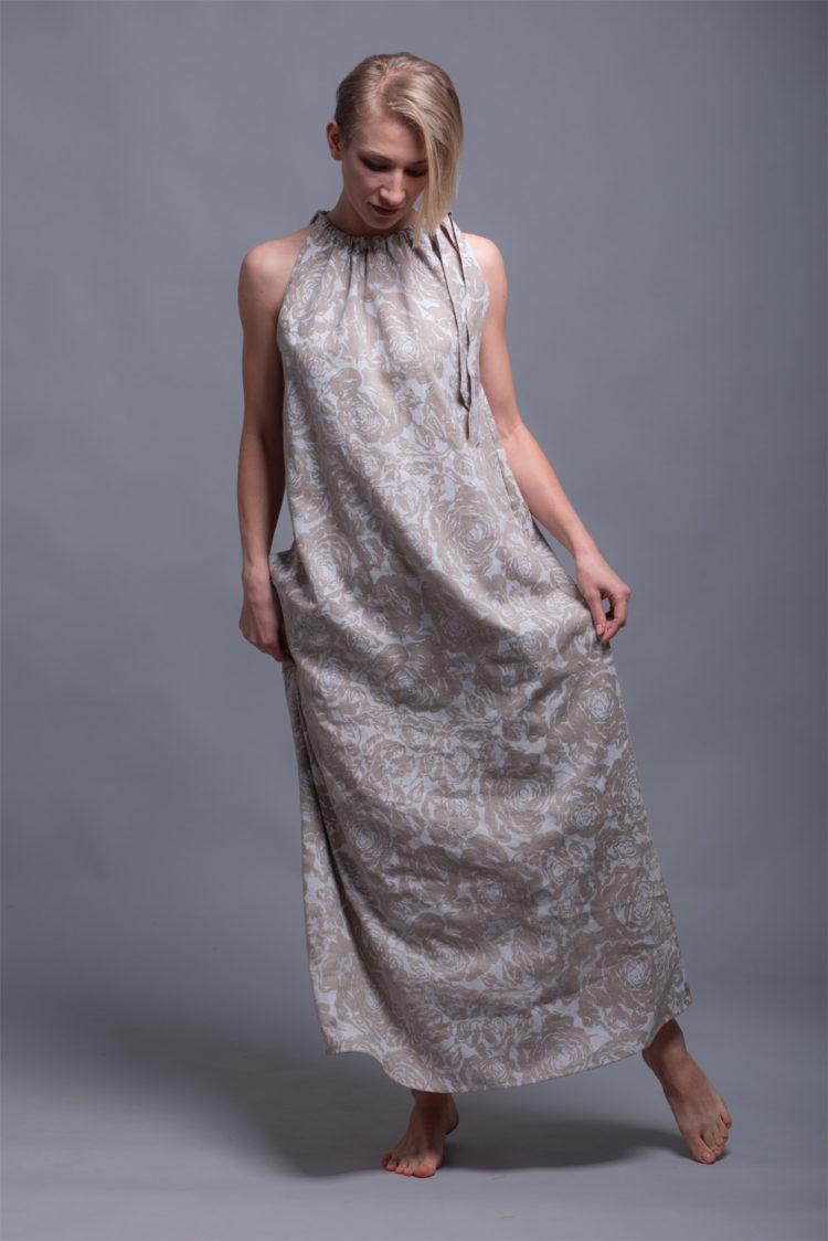 Длинное льняное платье сарафан TAYA
