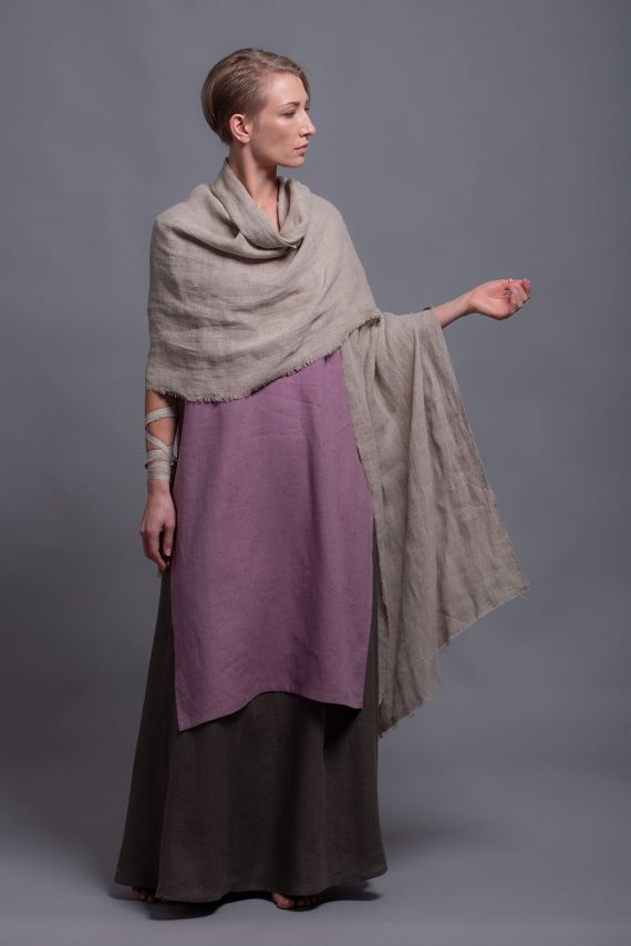 natural linen shawl wrap