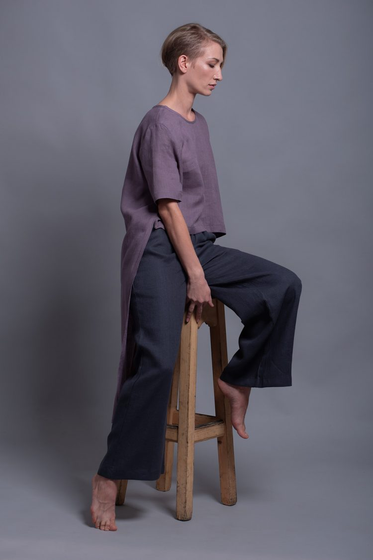 straight leg linen pants BORA