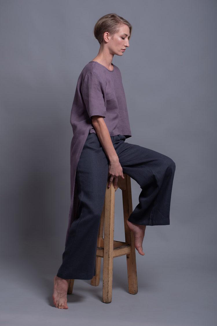 Прямые льняные брюки BORA