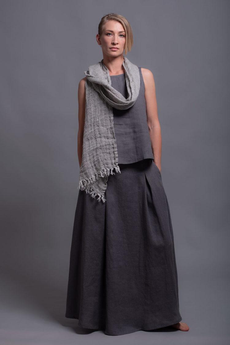 maxi linen skirt INDI