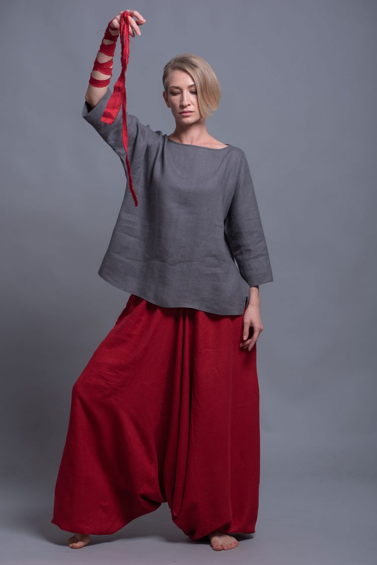 long sleeve linen blouse SOVA