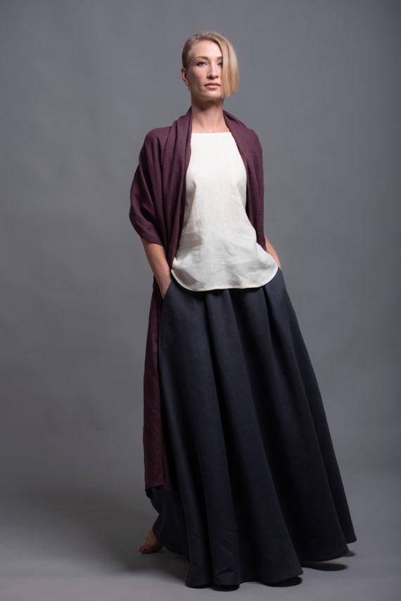 Льняная юбка макси INDI