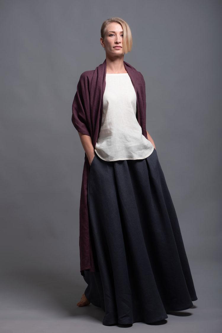 Linen Maxi Skirt INDI