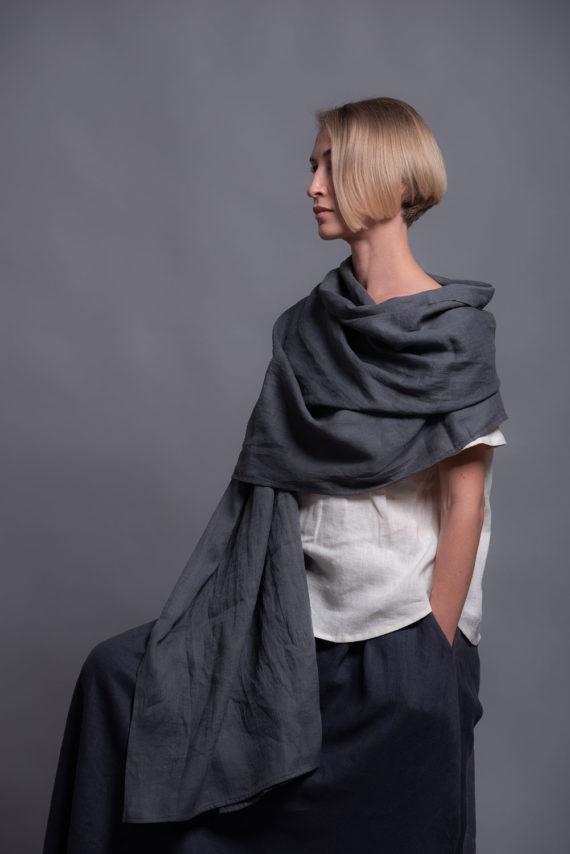 lightweight linen shawl wrap