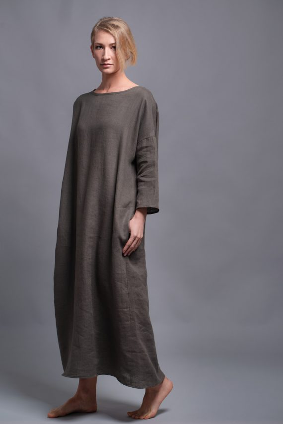 flax caftan dress