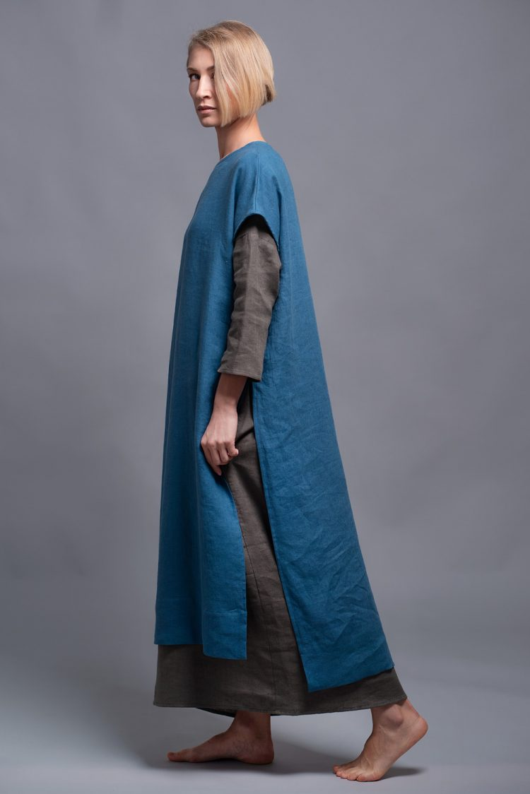 Long flax tunic SANGA