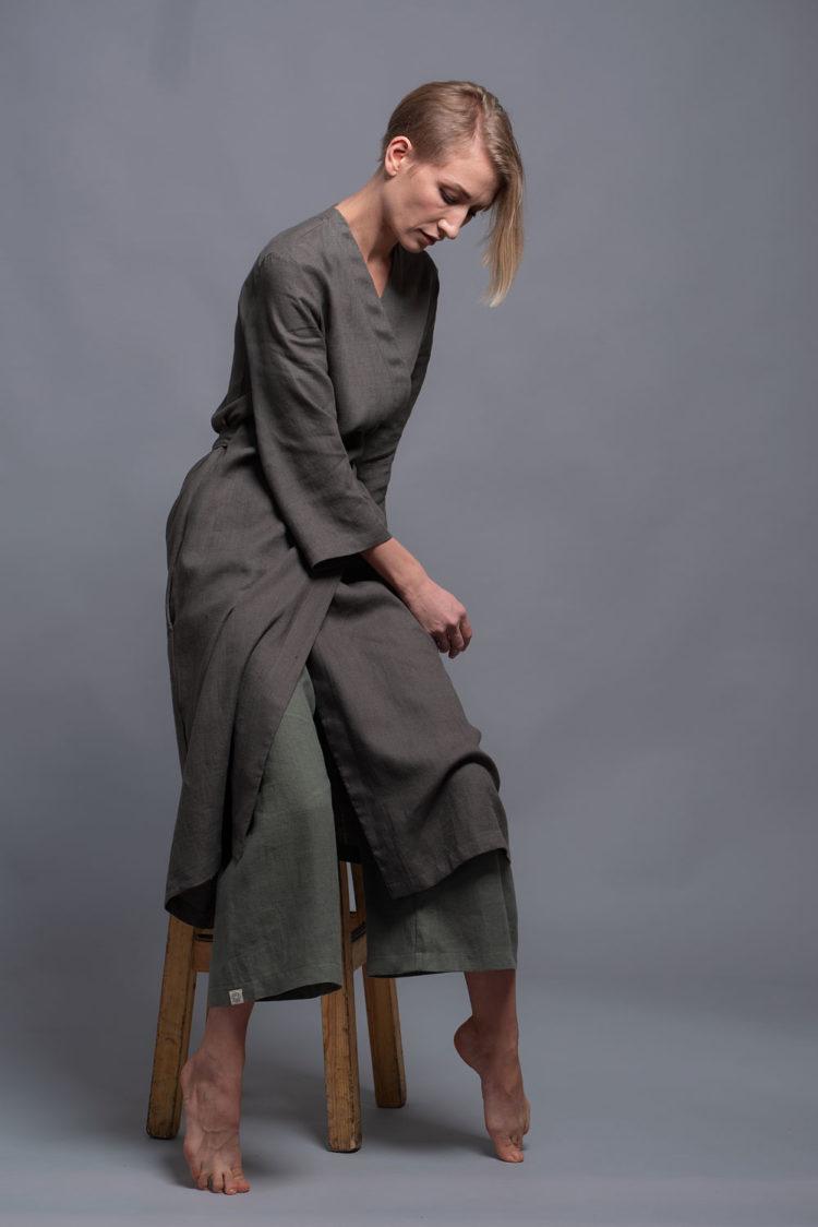 льняное платье кимоно ADAME