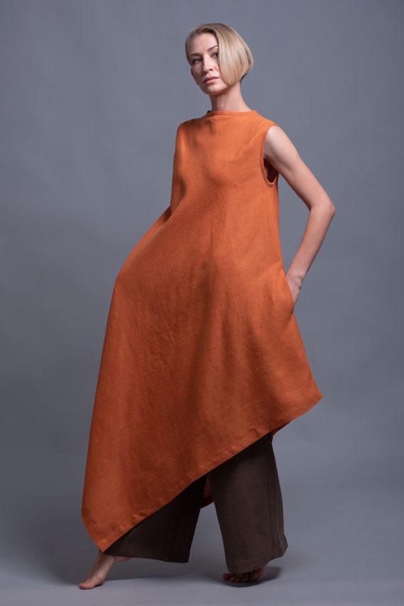 платье с асимметричным подолом YUCCA
