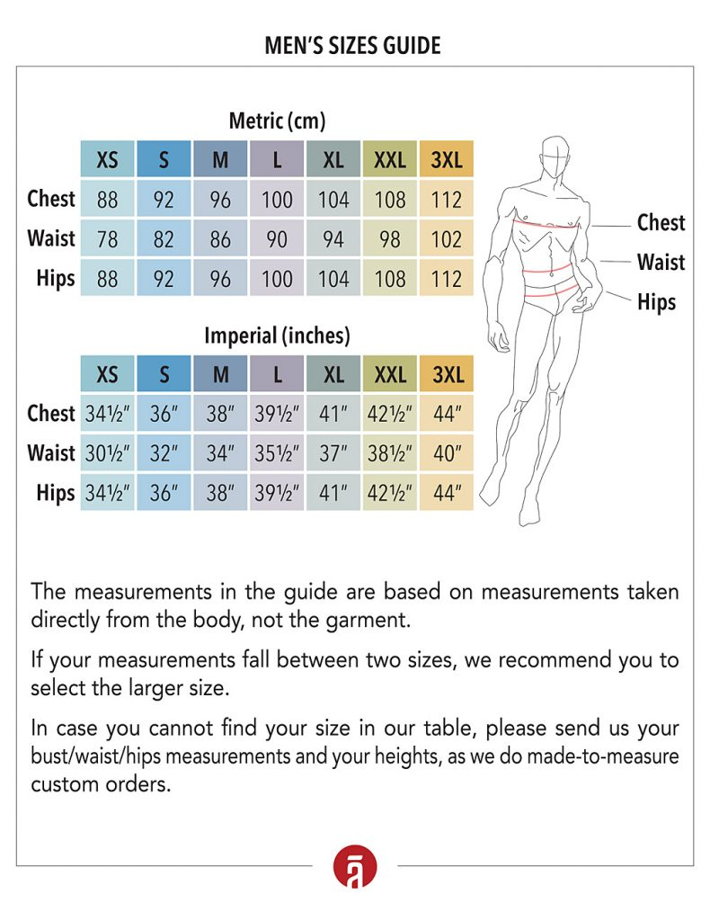 Men's Size Chart SHANTIMA