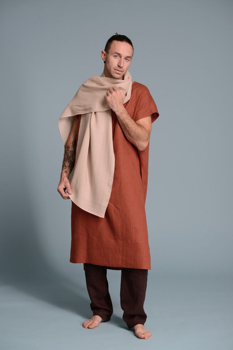 Men's lightweight linen scarf