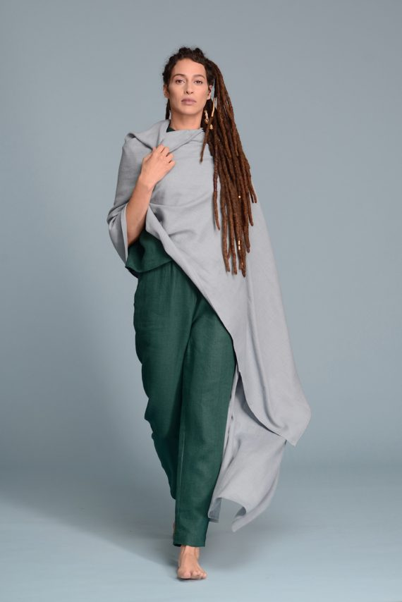 Wide Linen Shawl