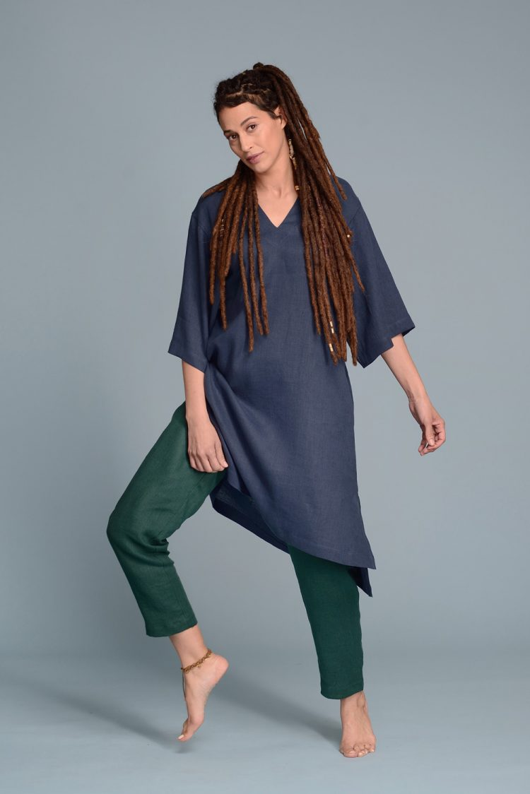 Loose Linen Tunic Dress DAU