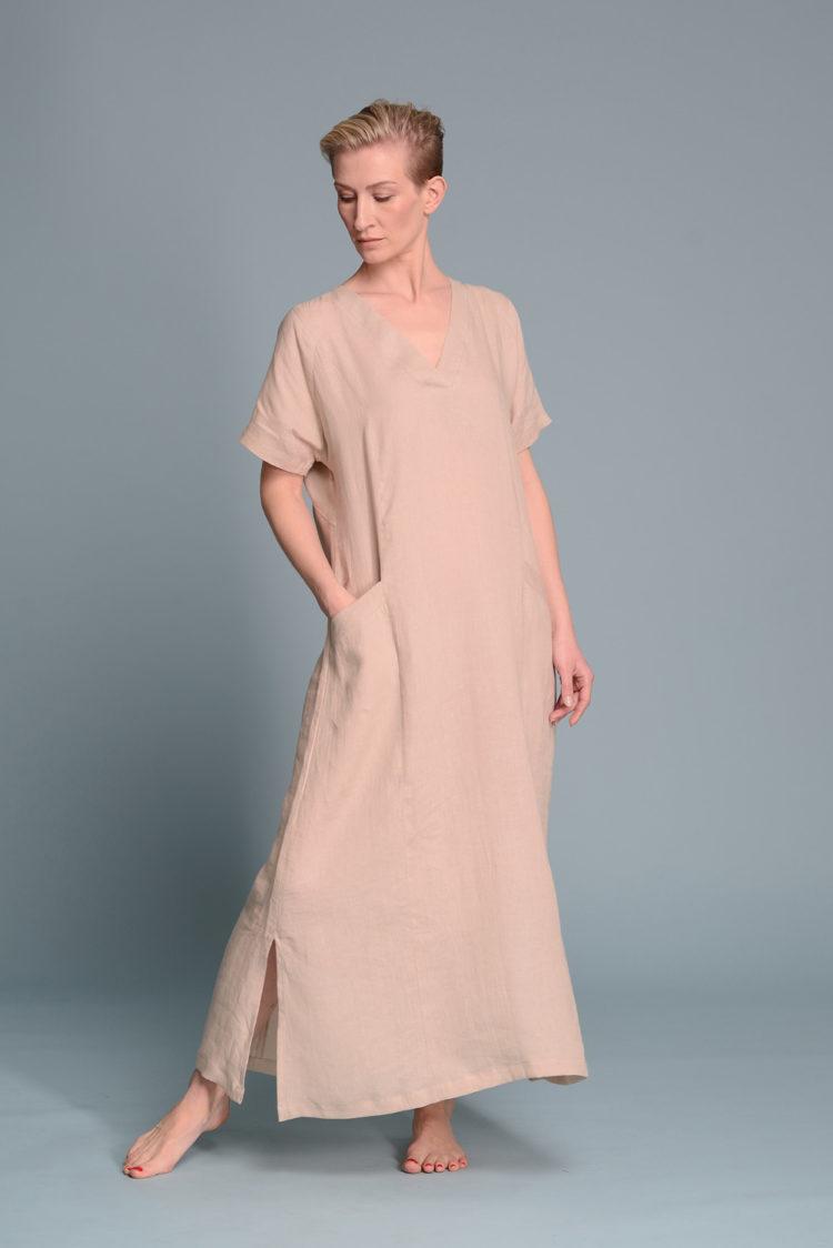 Платье галабея MIDBAR из тонкого льна