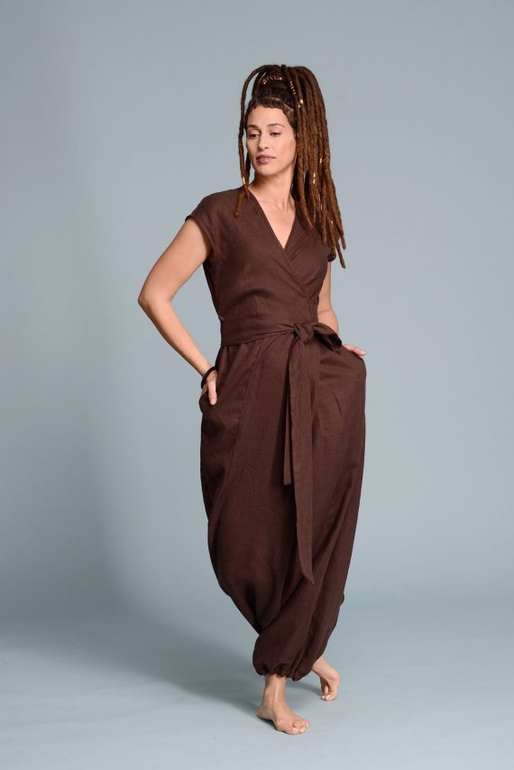 linen wrap jumpsuit TALISE