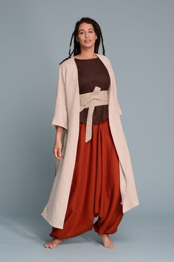 Льняное кимоно VARAU
