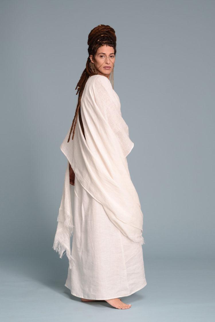 White Linen Tank Dress